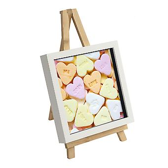 Argon Tableware 2 Piece Small Wooden Easel and Picture Frame Set - Wedding or Special Events Display