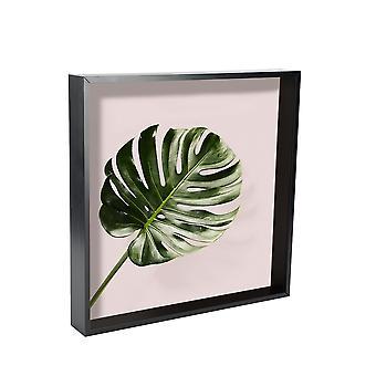 Nicola Spring 5 Piece Box Photo Frame Set - 16 x 16 Square Acrylic Frame - Black