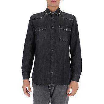 Golden Ganso Gmp00294p00017590100 Hombres's camisa de mezclilla negro