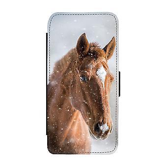 براون الحصان سامسونج غالاكسي S9 محفظة القضية