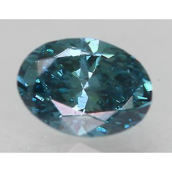 Cert 0,29 Karat Vivid Blau VS1 Oval Enhanced Natürliche lose Diamant 4,89x3,6 mm