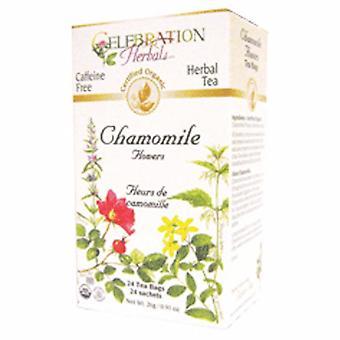 Celebration Herbals Organic Chamomile Flowers Tea, 24 Bags