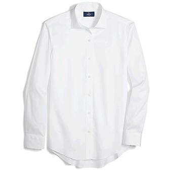 BUTTONED DOWN Men's Classic Fit Spread Kragen solide nicht-Eisen Kleid Shirt (Keine ...