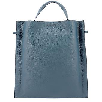 Orciani B01983softabisso Women's Blue Leather Tote