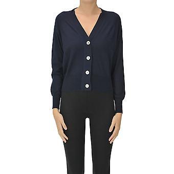 Aragona Ezgl157046 Women's Blue Cashmere Cardigan