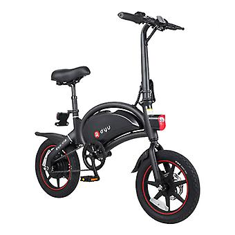 Dyu طوي دراجة كهربائية - على الطرق الوعرة الذكية E الدراجة - 240W - 6 آه البطارية - أسود