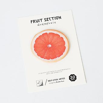 4-style Self-adhesive Tropical Fruits Notebook Memo Pad Sticky Notes For Office School