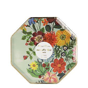 Meri Meri Nathalie Lete Floral Small Party Plates x 8