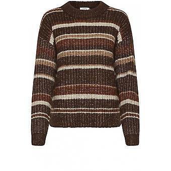 b.young Oksana Stripe Knit Jumper