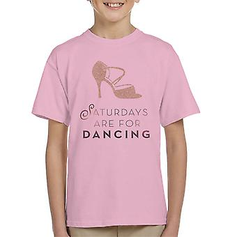 Strictly Come Dancing Saturdays Are For Dancing Glitter Stiletto Kid's T-Shirt