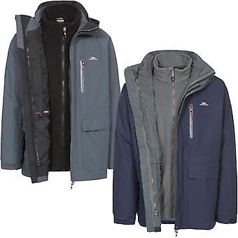 Trespass Mens Edgewater II 3 IN 1 talvi lämmin vedenpitävä fleece takki