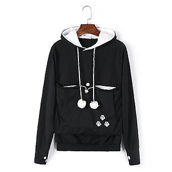 Sweatshirt Cat Hoodie, Pet Casual Unisex, Kangaroo Pocket Hoodie