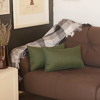 Honey Fern Green Lumbar Throw Pillow Cover Set