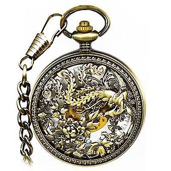 JIJIA JX025 Suuri Phoenix metalli automaattinen mekaaninen kello taskukello