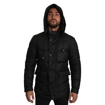 ブラック フード付き絶縁コート ジャケット