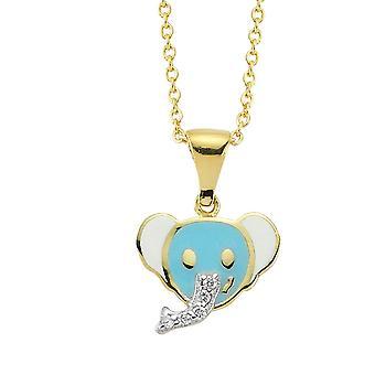 Børn Elefant Diamond halskæde