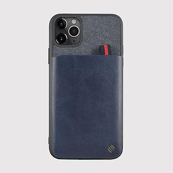 Blauwe iphone 11 pro max hoesje met kaarthouder