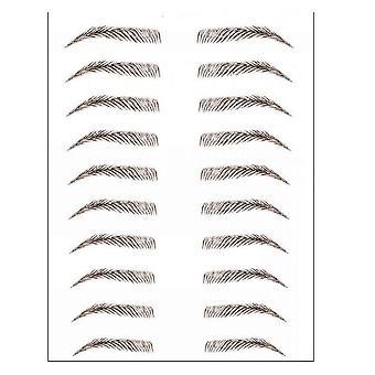 4d Haar-wie wasserdichte Augenbraue Tattoo Aufkleber