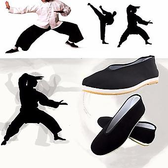 Quality Cotton Shoes Men's Traditional Cloth Wing Chun Tai-chi Martial Art Old