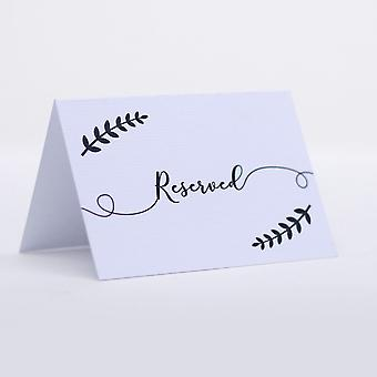 Wreath Leaf Reserved Only Cards Set of 4 Wedding Party Events