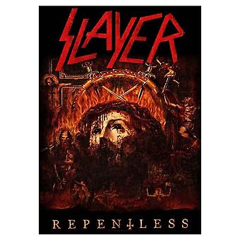 Slayer Poster Repentless Band Logo Official New Black Textile Flag 70cm x 106cm