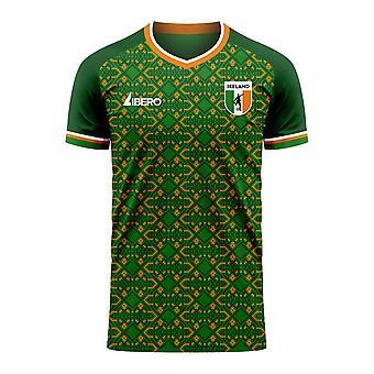 Irlanti 2020-2021 Home Concept Football Kit (Libero) - Aikuinen pitkähihainen