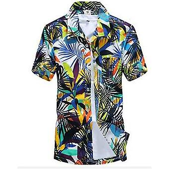 Mannen's Male Casual Printed Beach Short Sleeve Shirts