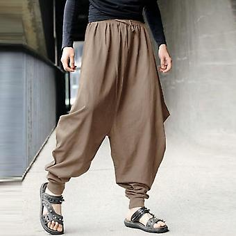 Cross-pants Men Crotch Loose Cotton Harem Pantaloni Baggy Sweatpants