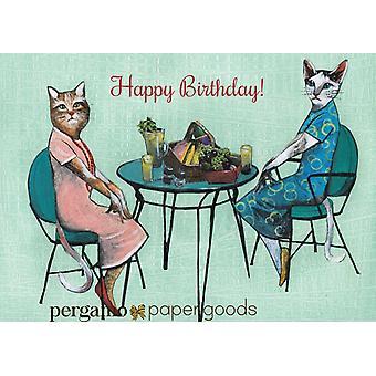"""happy Birthday"" Birthday Cat Card"