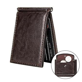 Pu Leather Vintage, Slim Money Clip, Bifold Short Multi Card, Slots Wallets