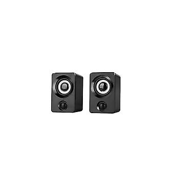 Aux Mini Usb Powered 1.3m Wired 1 Paire Bass Stereo Speakers For Computer /