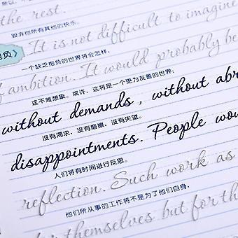 3d Round Reusable Groove Calligraphy Erasable Pen Learn English Copybook