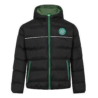 Celtic FC Boys Jacket Hooded Winter Quilted Kids OFFICIAL Football Gift