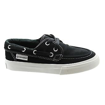 Converse Sea Star OX Herre Båd Sko Undervisere Sort Ruskind Lace Up 127727C B124D