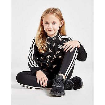 New adidas Originals Girls' SS Track Top/Leggins Set Black
