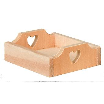 Dolls House Heart Tray Crate Box Miniature Fruit Veg Shop Store Market Accessory
