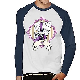 Holly Hobbie Bonnet Side Profile Men's Baseball Long Sleeved T-Shirt