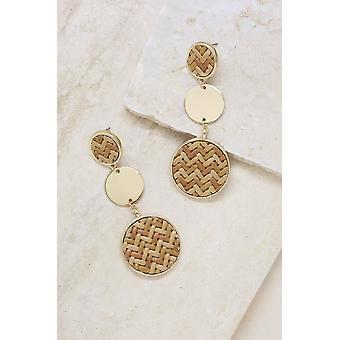 Boho Dreams Woven 18k Gold Plated Dangle Earrings