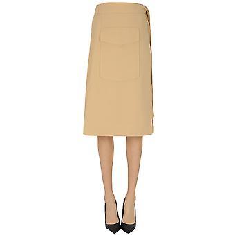 Samsoe O Samsoe Ezgl628002 Women's Beige Polyester Skirt