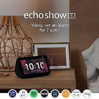 Echo show 5 'Äìstay in contact met de hulp van alexa, black echo show 5