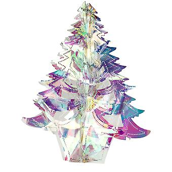 TRIXES Iridescent Foil Christmas Tree Hanging Tree Decoration 3D Effect