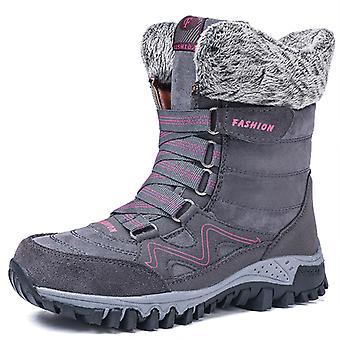 Bottes de neige hautes de cheville de femmes 9961 gris
