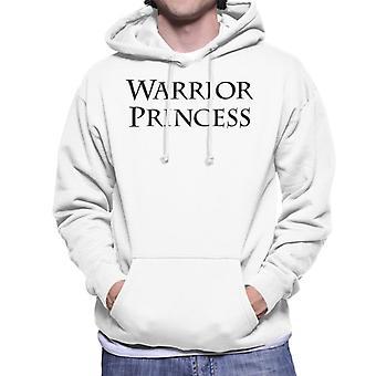 Xena Warrior Princess Text Men's Hooded Sweatshirt