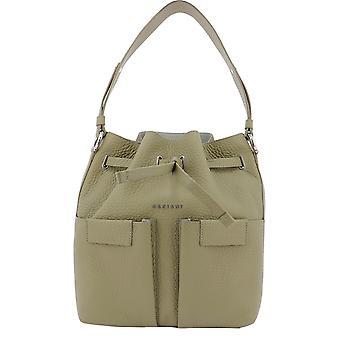 Orciani B02092softkaki Women's Green Leather Shoulder Bag