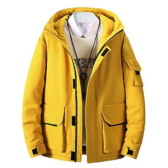Men's Loose Fit Zipper Multi-pocket Hooded Jacket