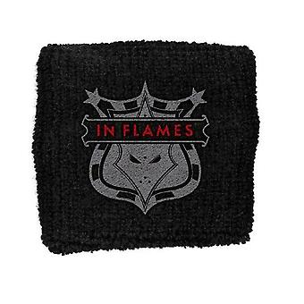 In Flames Shield band Logo New Official black Cotton Sweatband