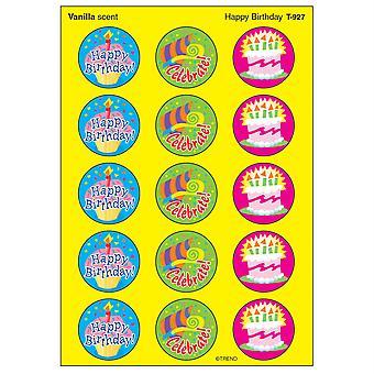 Happy Birthday/Vanilla Stinky Stickers, 60 Ct.