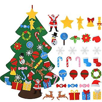 Kids Felt Christmas Tree Decoration For Home