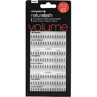 Salon System Naturalash Individual Lashes - Black Medium - Salon Value Pack