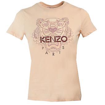 Kenzo Womens Tiger Icon Logo T-Shirt Rosa